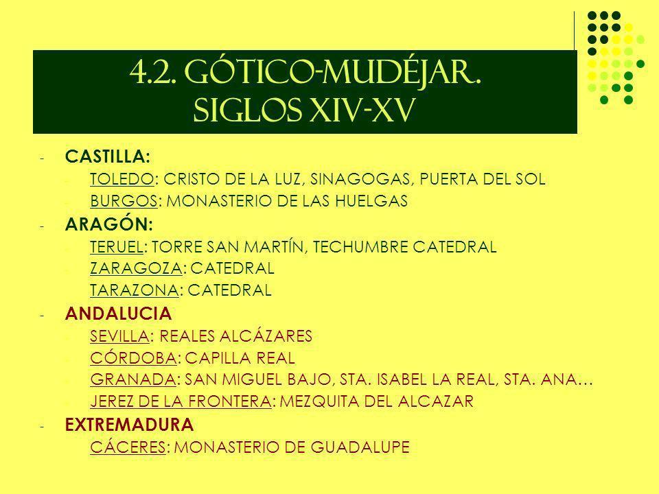 4.2. GÓTICO-MUDÉJAR. SIGLOS XIV-XV