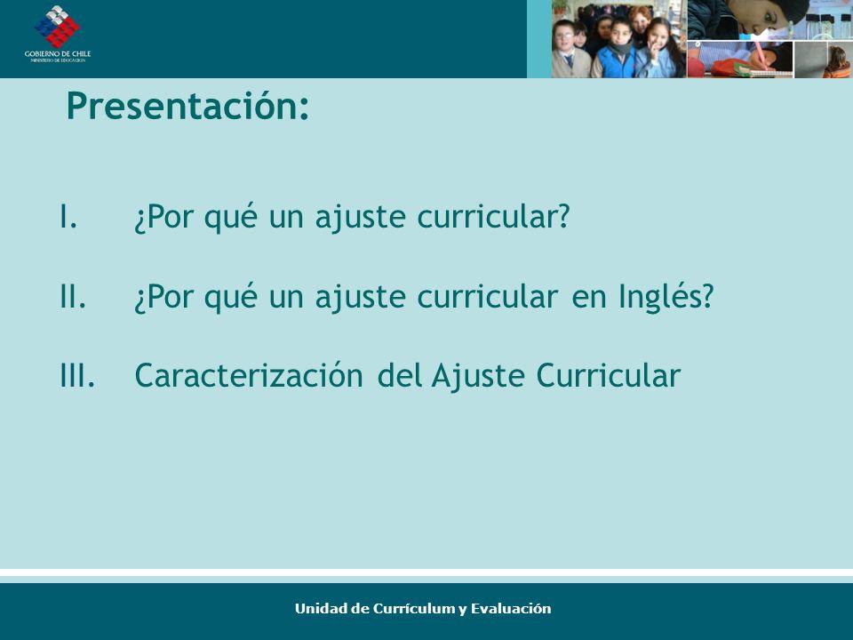 Presentación: ¿Por qué un ajuste curricular