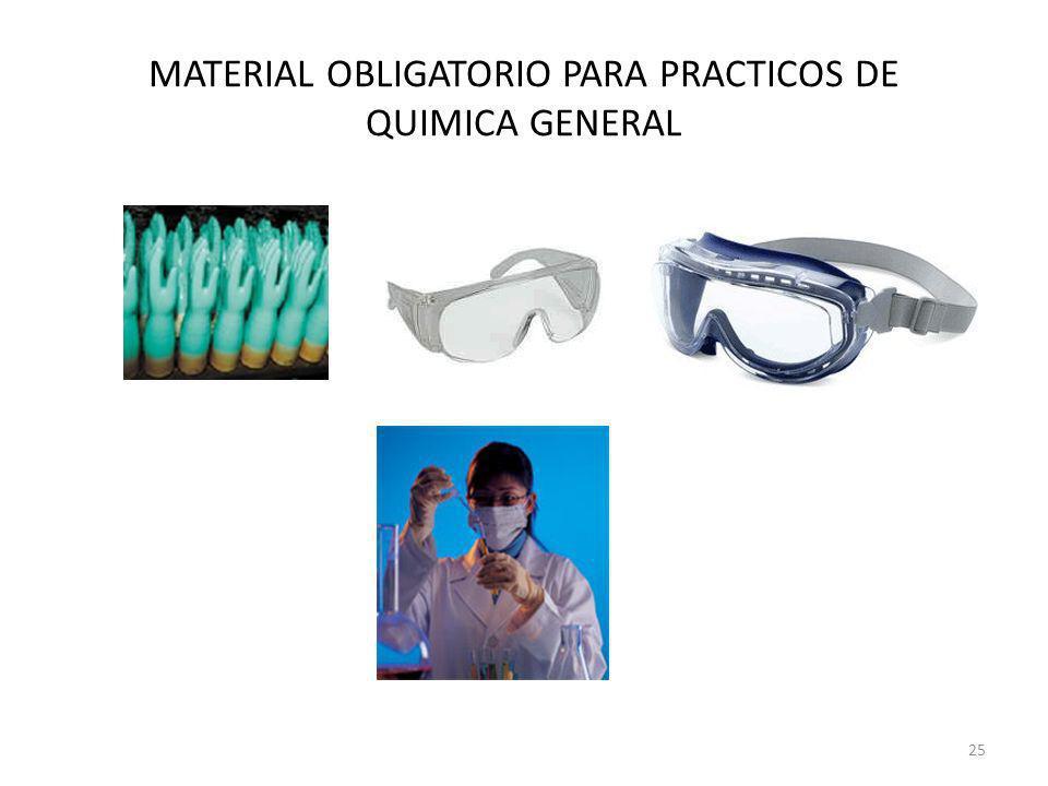 MATERIAL OBLIGATORIO PARA PRACTICOS DE QUIMICA GENERAL