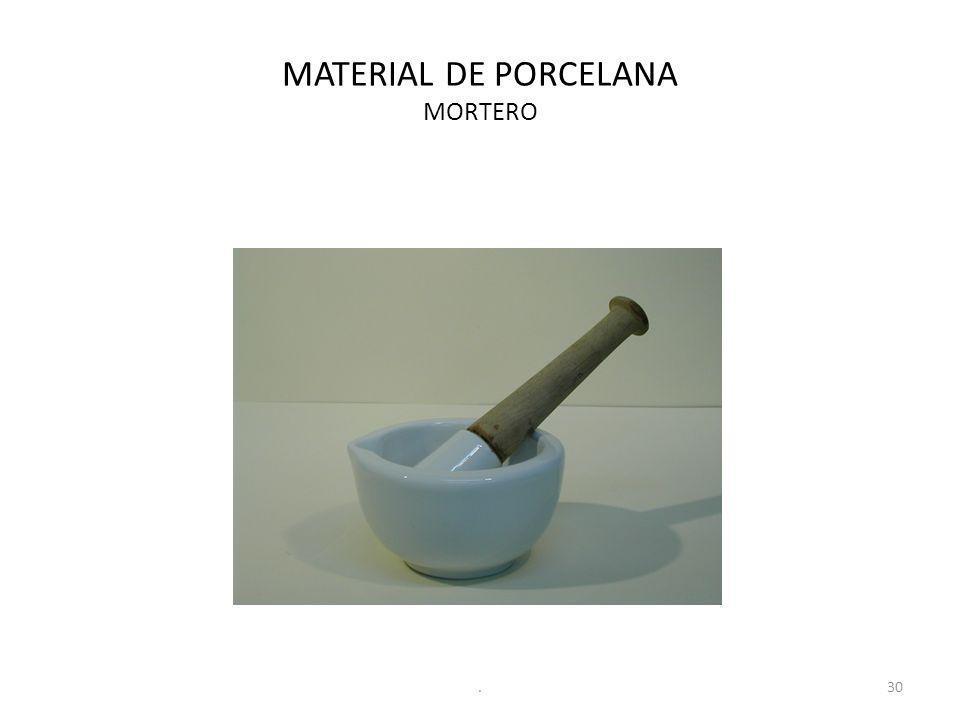 MATERIAL DE PORCELANA MORTERO