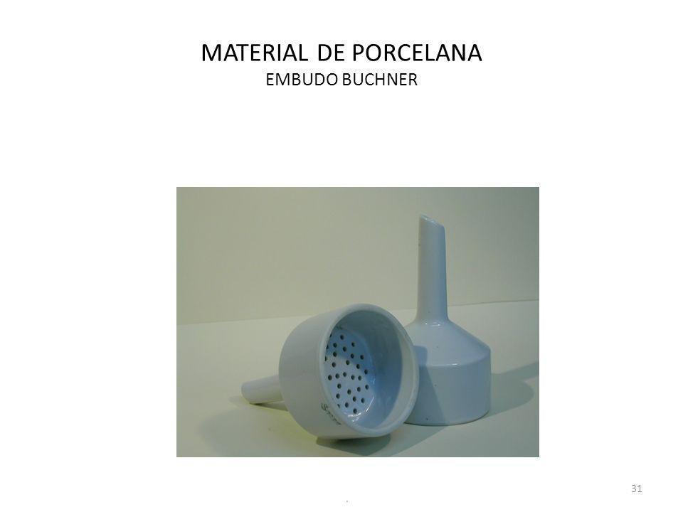 MATERIAL DE PORCELANA EMBUDO BUCHNER