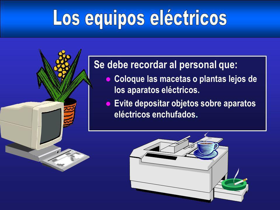 Los equipos eléctricos