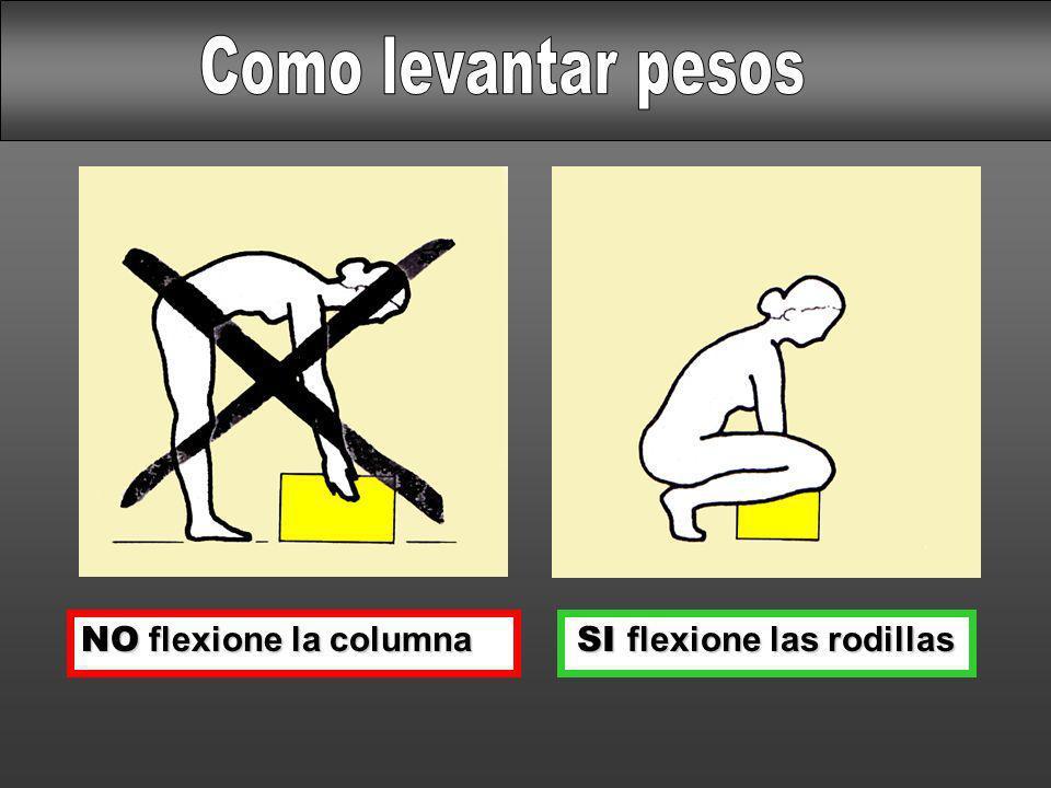 SI flexione las rodillas