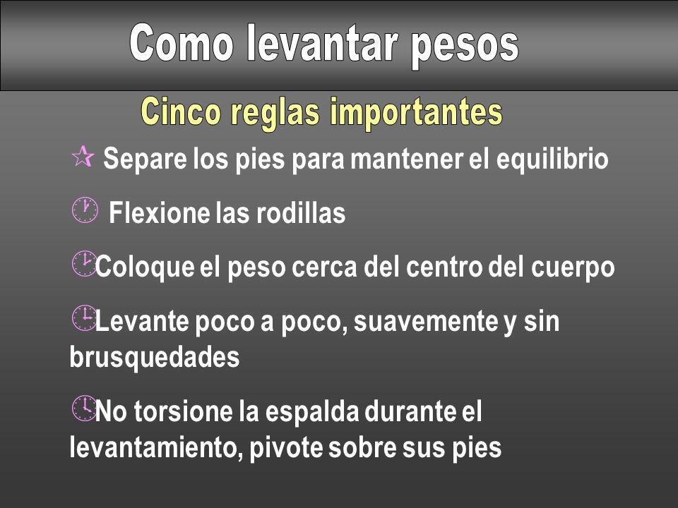 Cinco reglas importantes