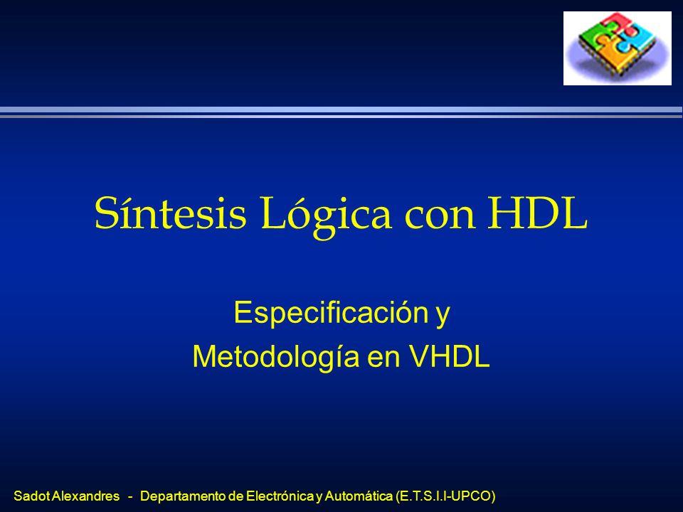 Síntesis Lógica con HDL