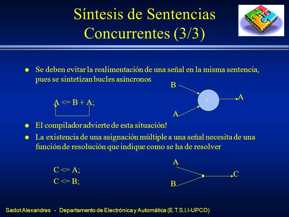 Síntesis de Sentencias Concurrentes (3/3)