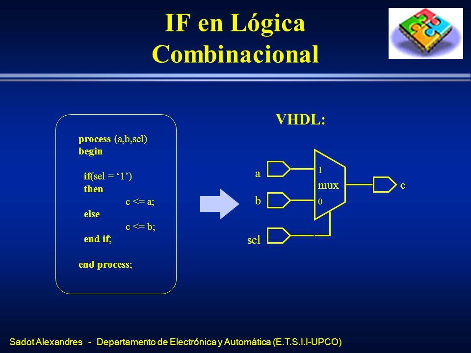 IF en Lógica Combinacional