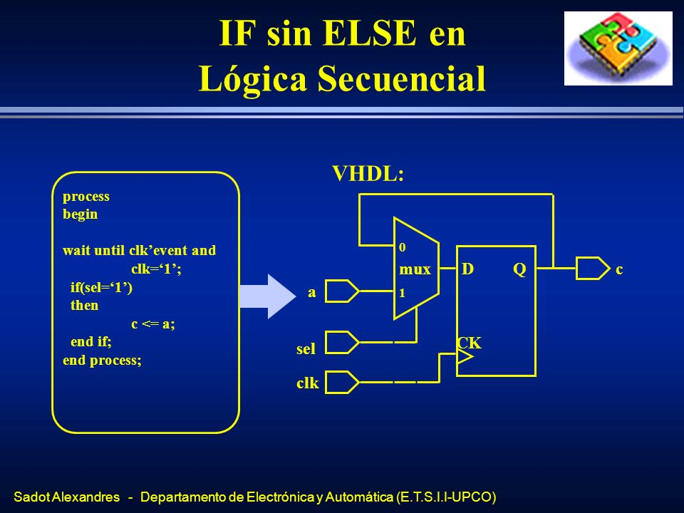 IF sin ELSE en Lógica Secuencial