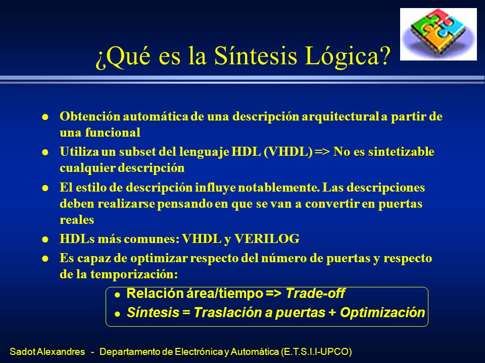 ¿Qué es la Síntesis Lógica