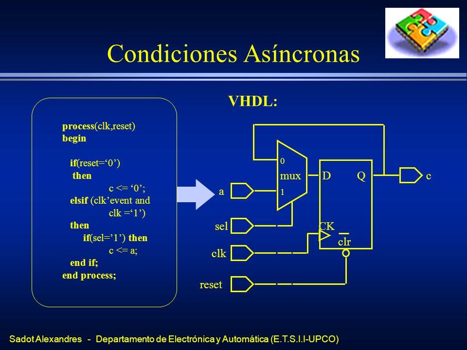 Condiciones Asíncronas