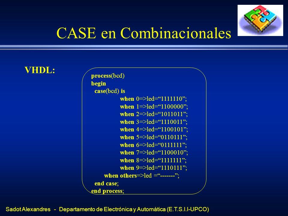 CASE en Combinacionales
