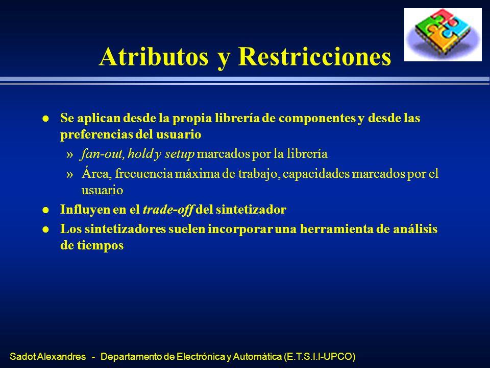 Atributos y Restricciones