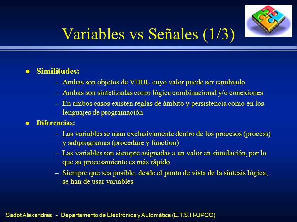 Variables vs Señales (1/3)