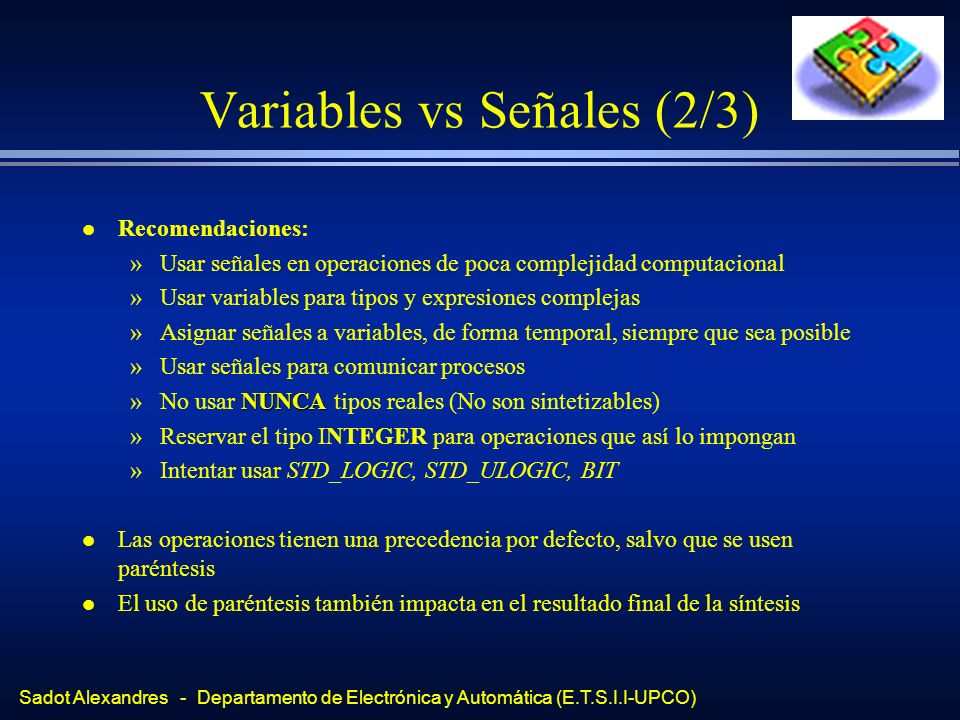 Variables vs Señales (2/3)