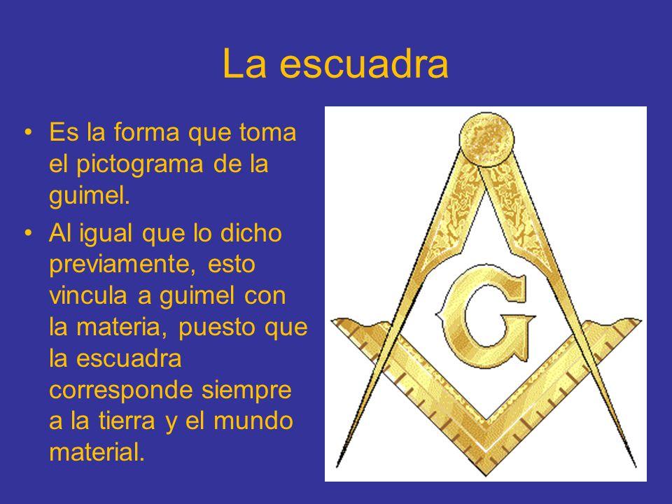 La escuadra Es la forma que toma el pictograma de la guimel.