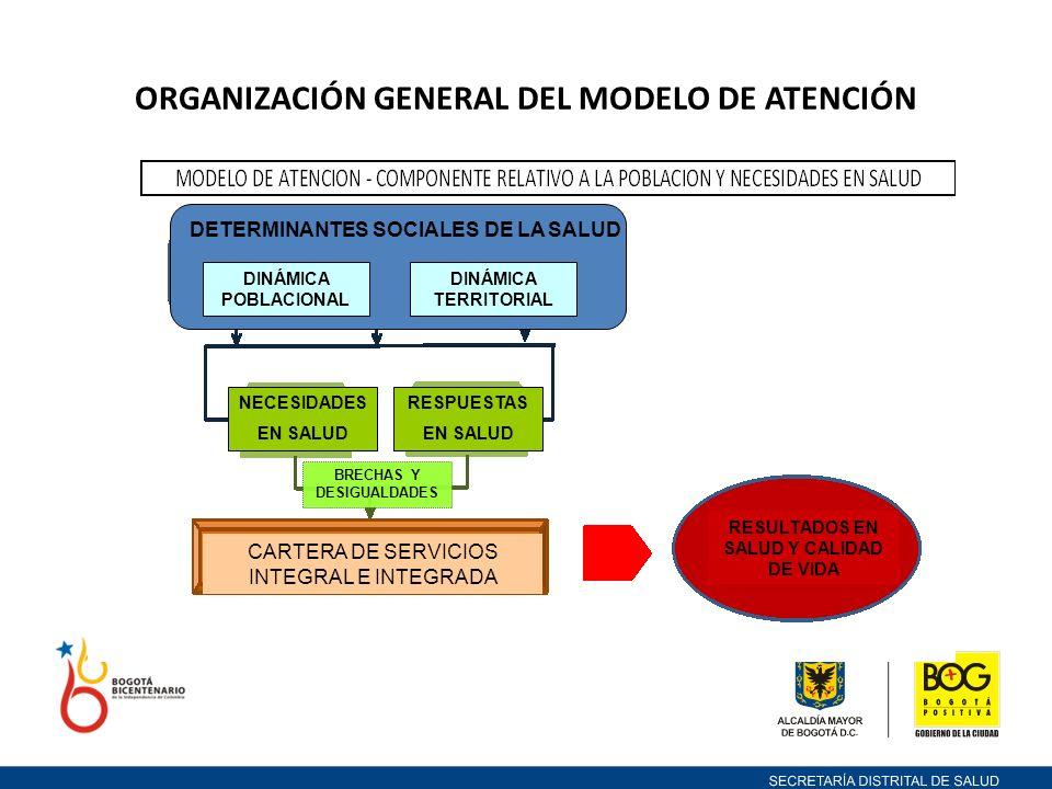ORGANIZACIÓN GENERAL DEL MODELO DE ATENCIÓN