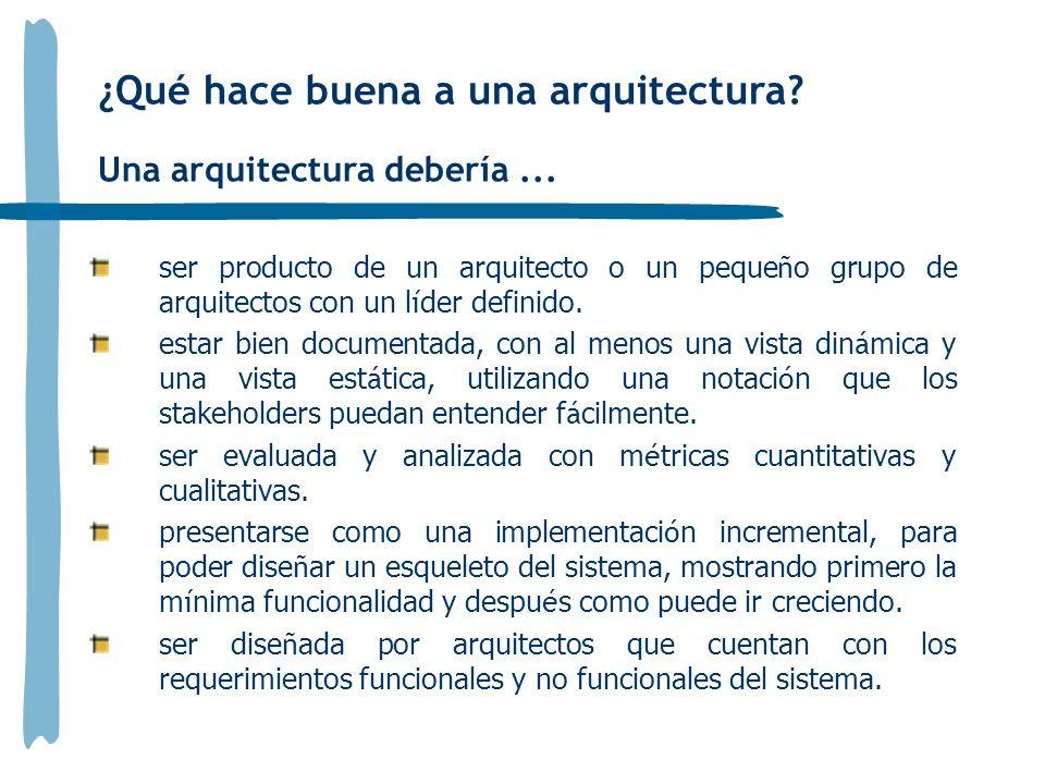 ¿Qué hace buena a una arquitectura