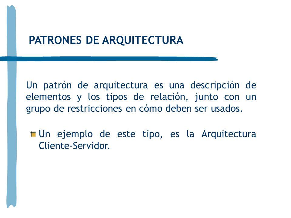 PATRONES DE ARQUITECTURA