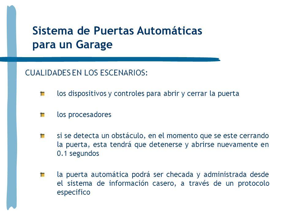 Sistema de Puertas Automáticas para un Garage