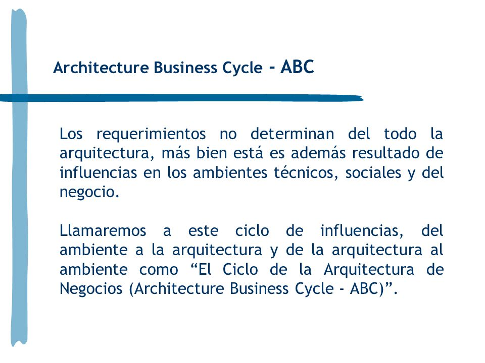 Architecture Business Cycle - ABC