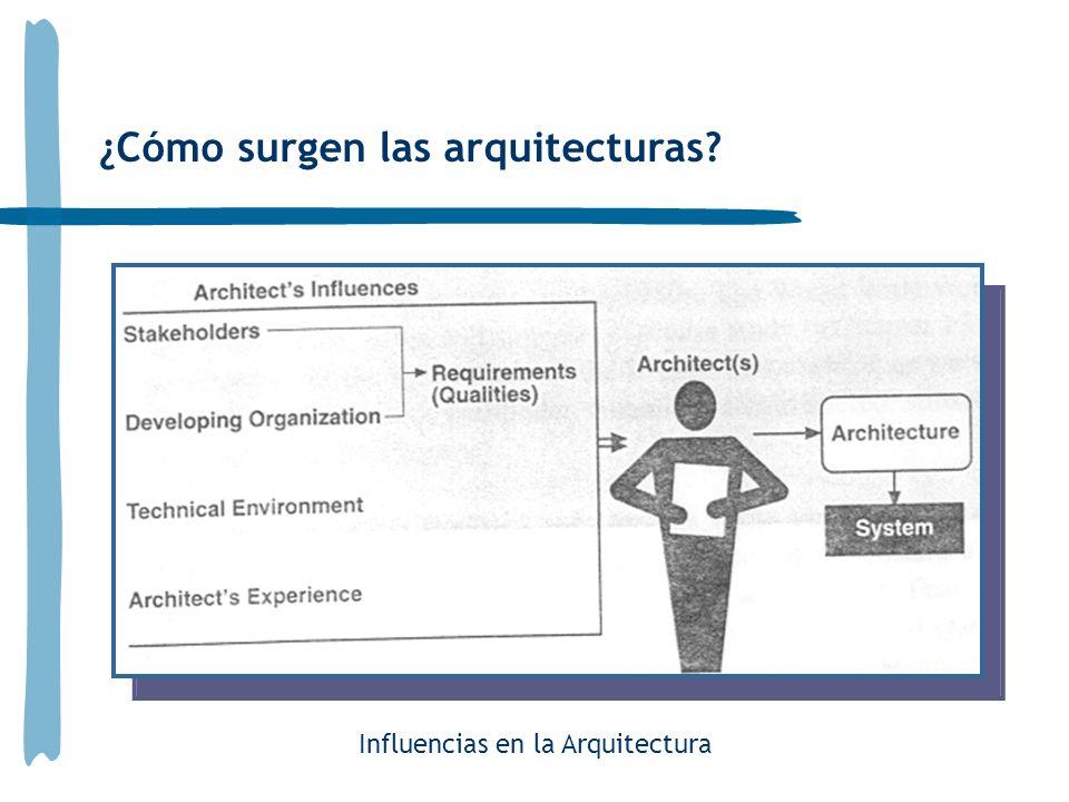 ¿Cómo surgen las arquitecturas