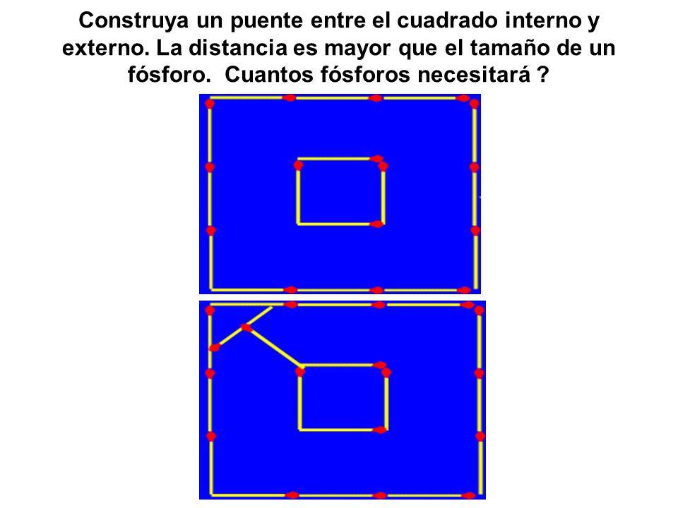 Construya un puente entre el cuadrado interno y externo