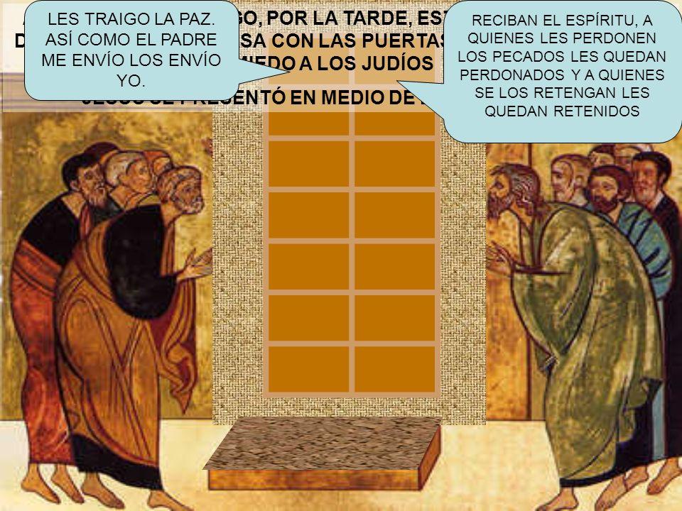 JESÚS SE PRESENTÓ EN MEDIO DE ELLOS Y LES DIJO: