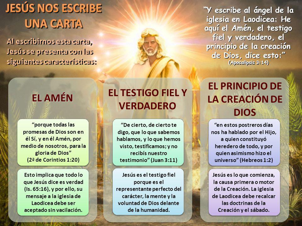 EL TESTIGO FIEL Y VERDADERO EL PRINCIPIO DE LA CREACIÓN DE DIOS