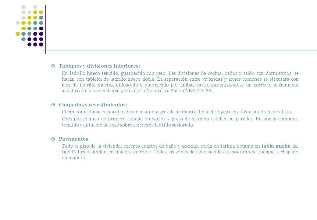  Tabiques y divisiones interiores: