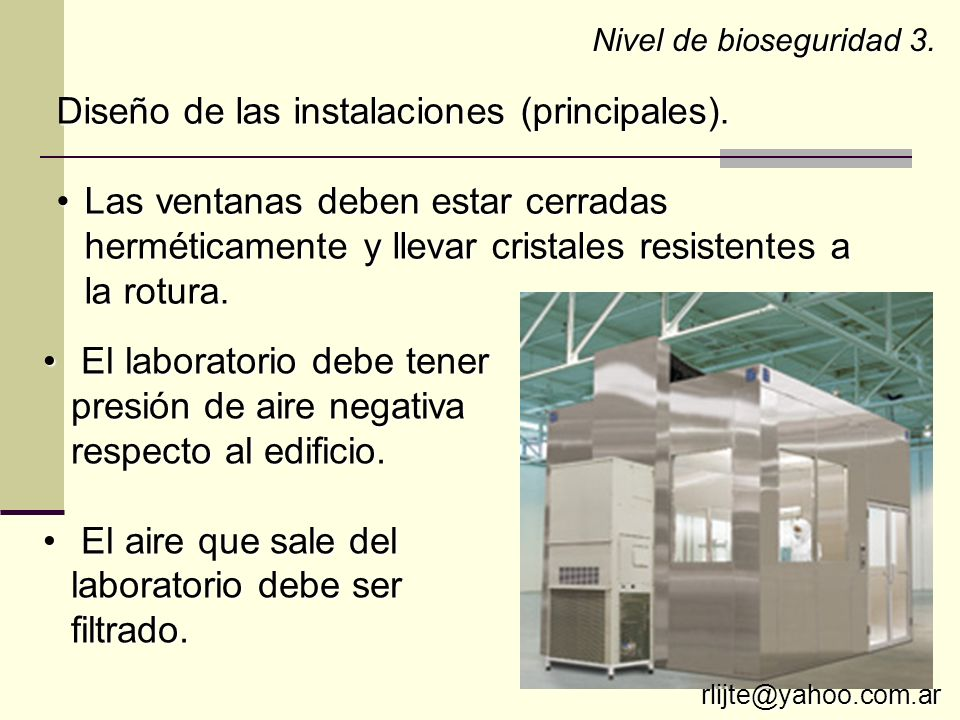 Diseño de las instalaciones (principales).