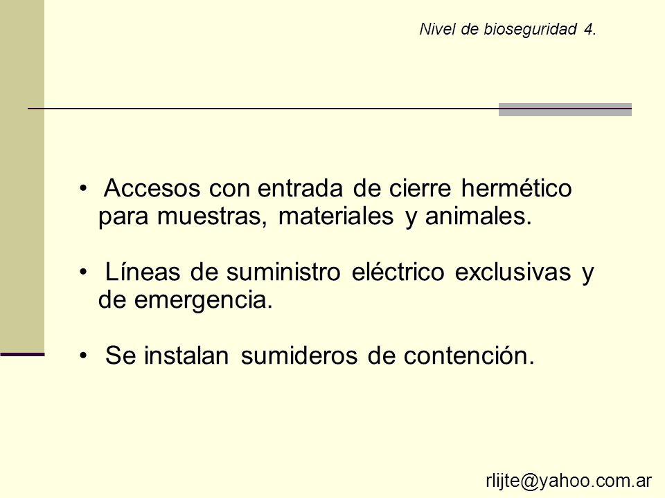Líneas de suministro eléctrico exclusivas y de emergencia.