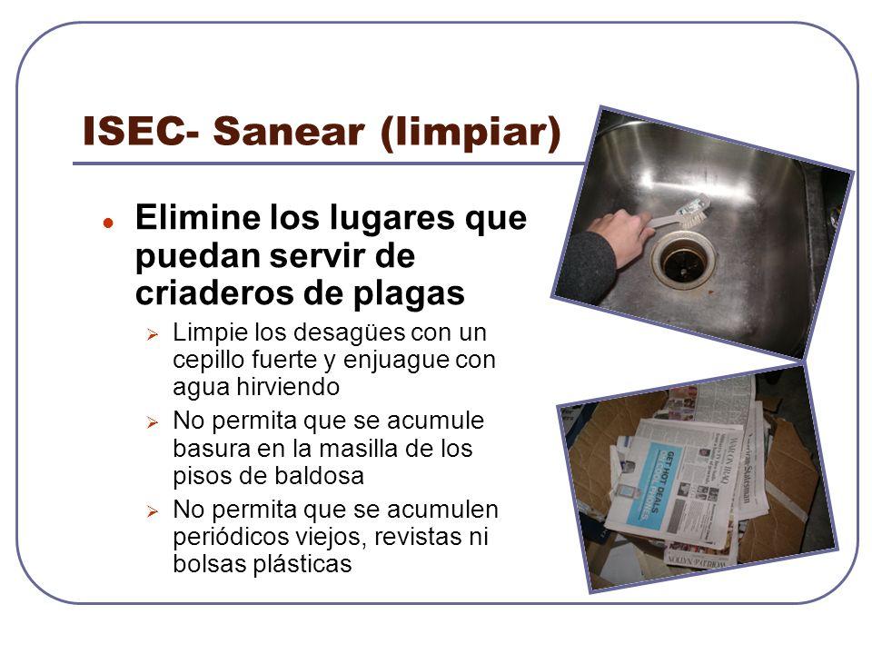 ISEC- Sanear (limpiar)