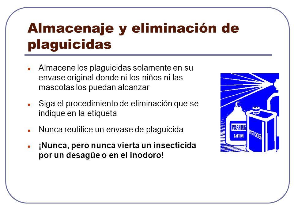 Almacenaje y eliminación de plaguicidas