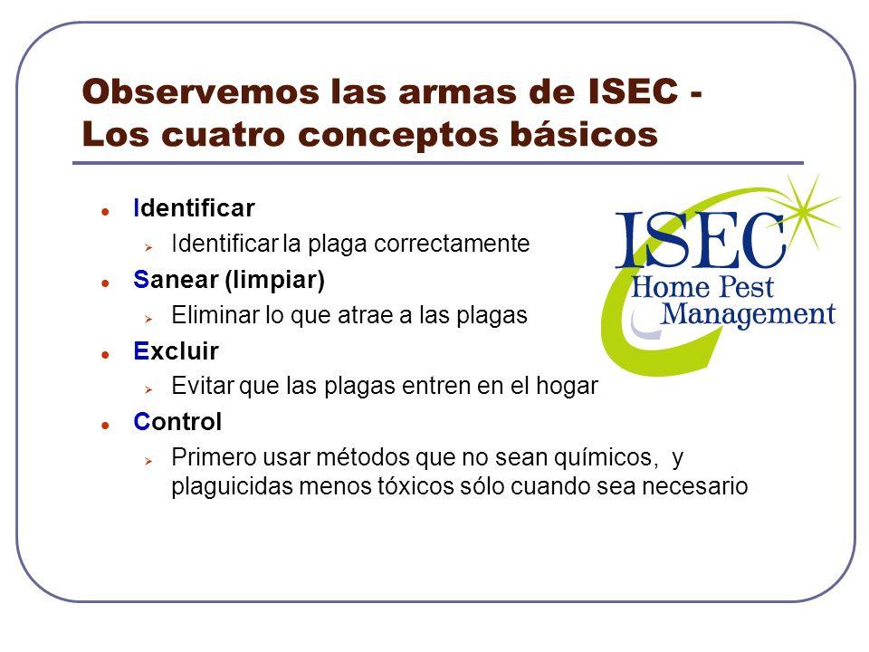 Observemos las armas de ISEC - Los cuatro conceptos básicos