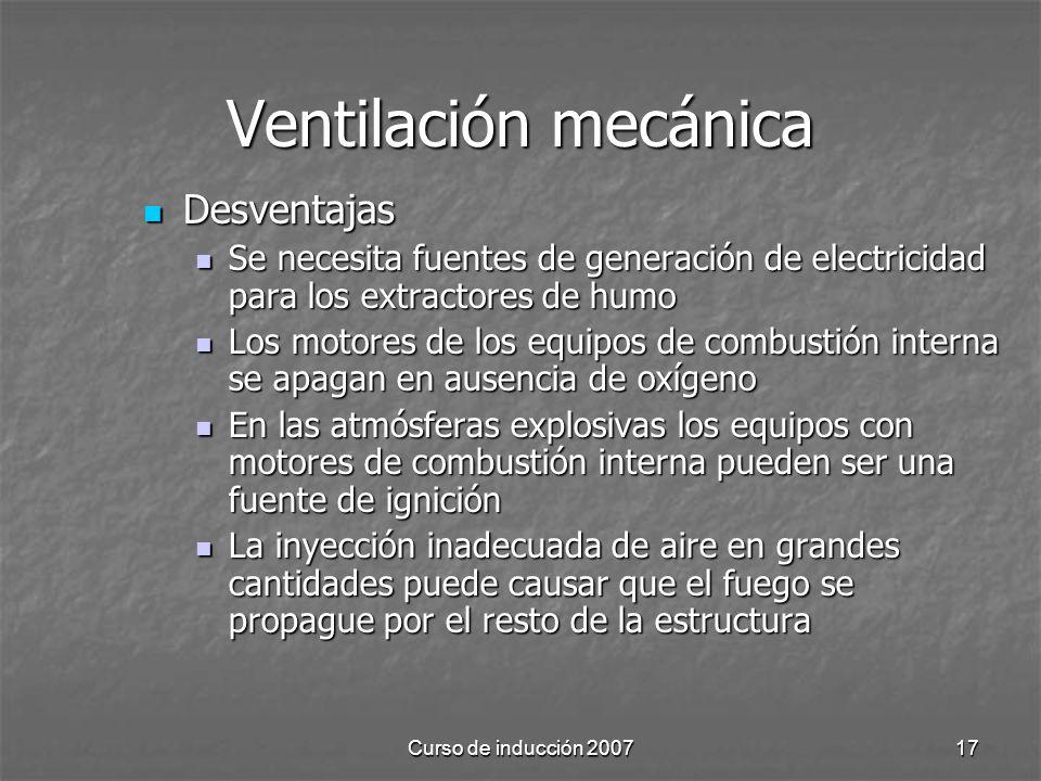 Ventilación mecánica Desventajas