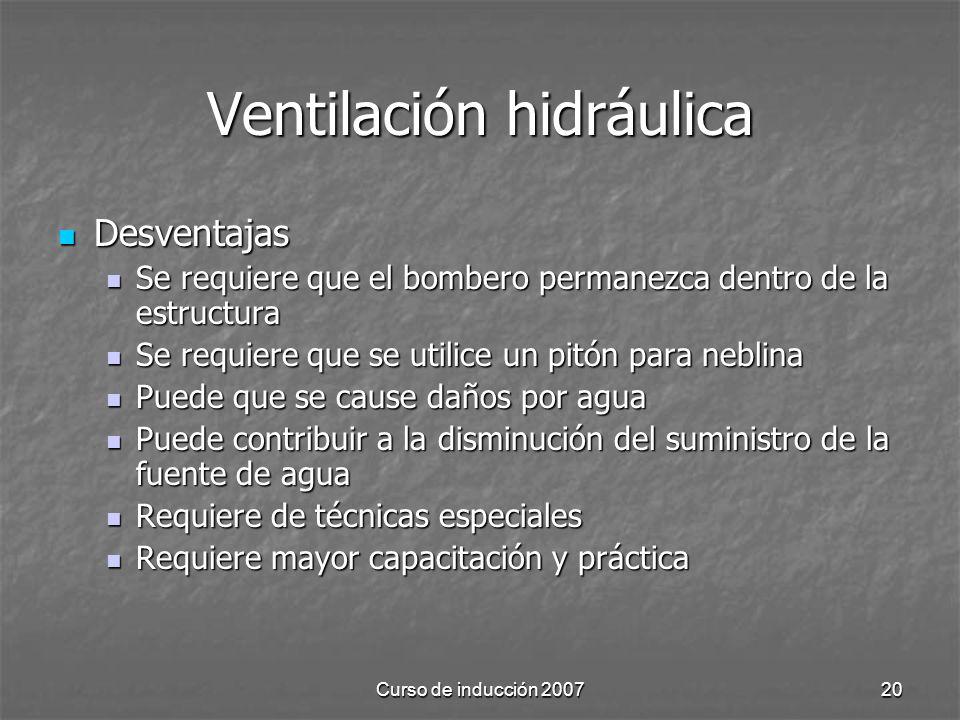 Ventilación hidráulica