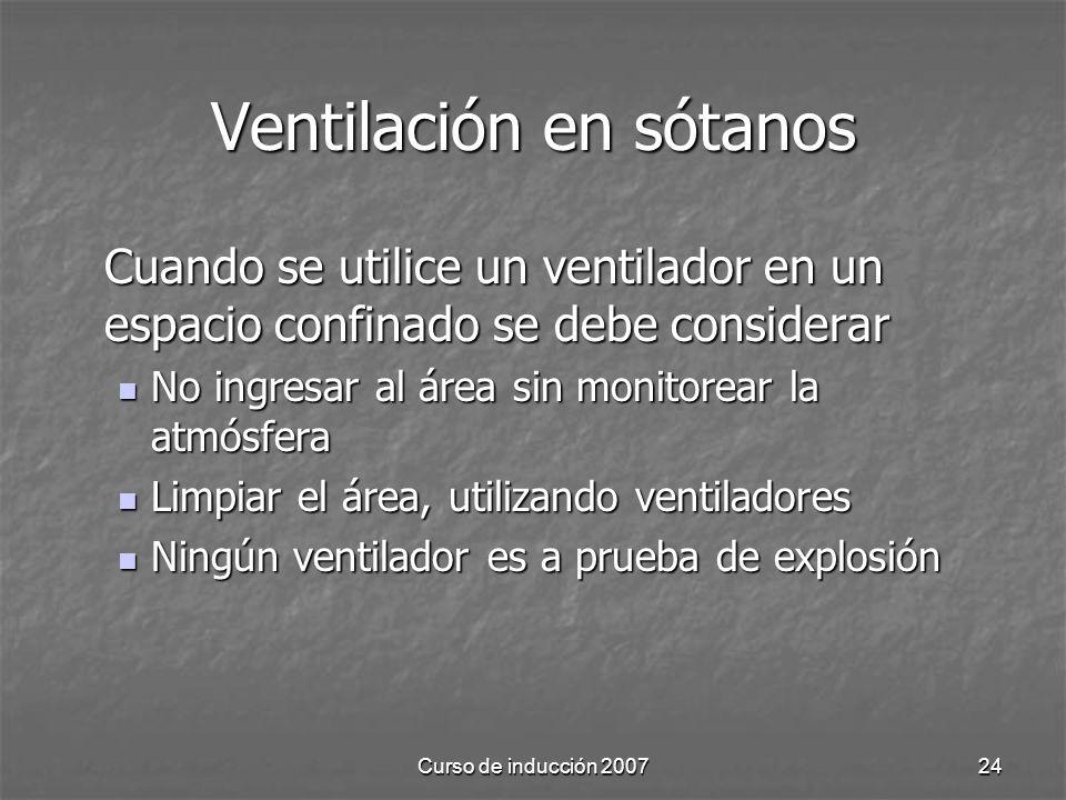 Ventilación en sótanos