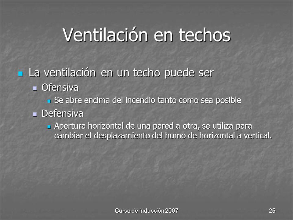 Ventilación en techos La ventilación en un techo puede ser Ofensiva