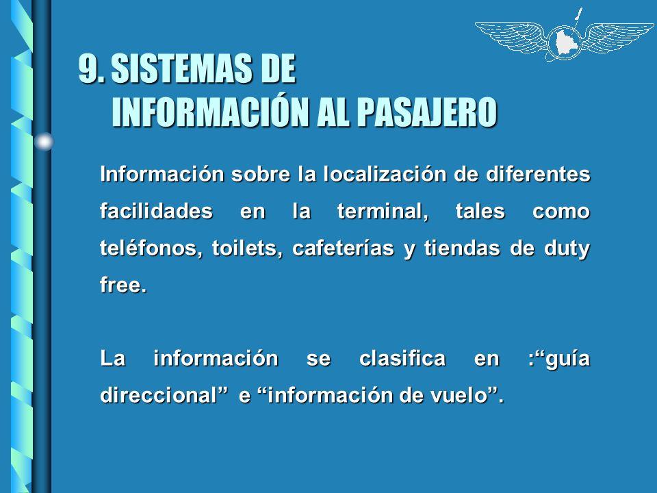 9. SISTEMAS DE INFORMACIÓN AL PASAJERO