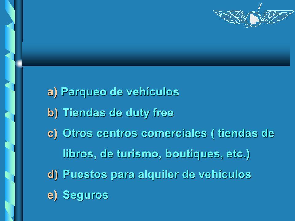 a) Parqueo de vehículos