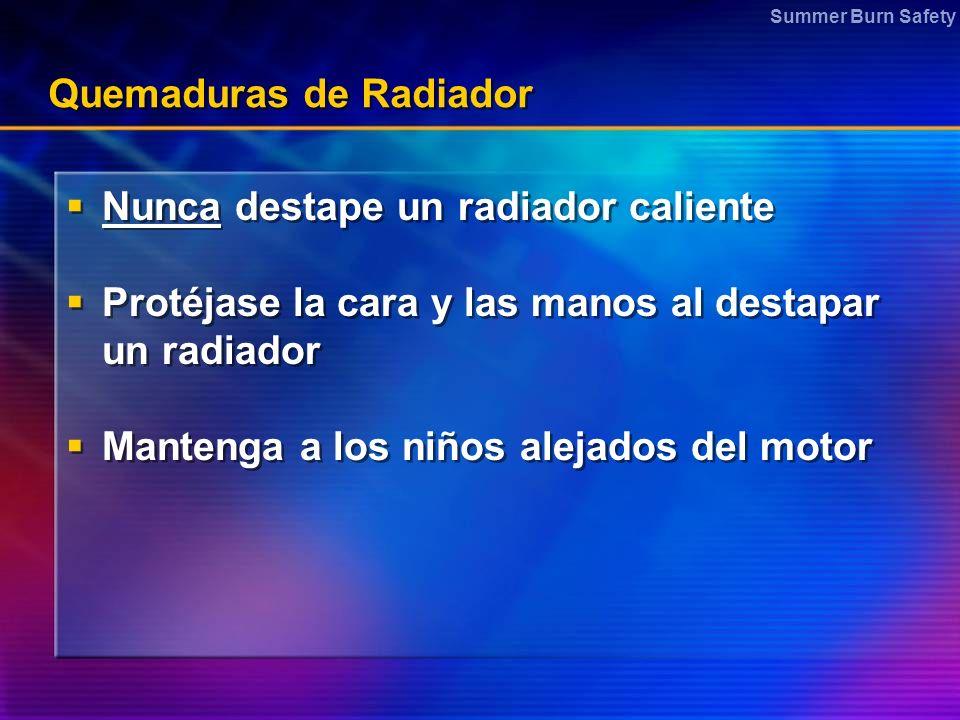 Quemaduras de Radiador