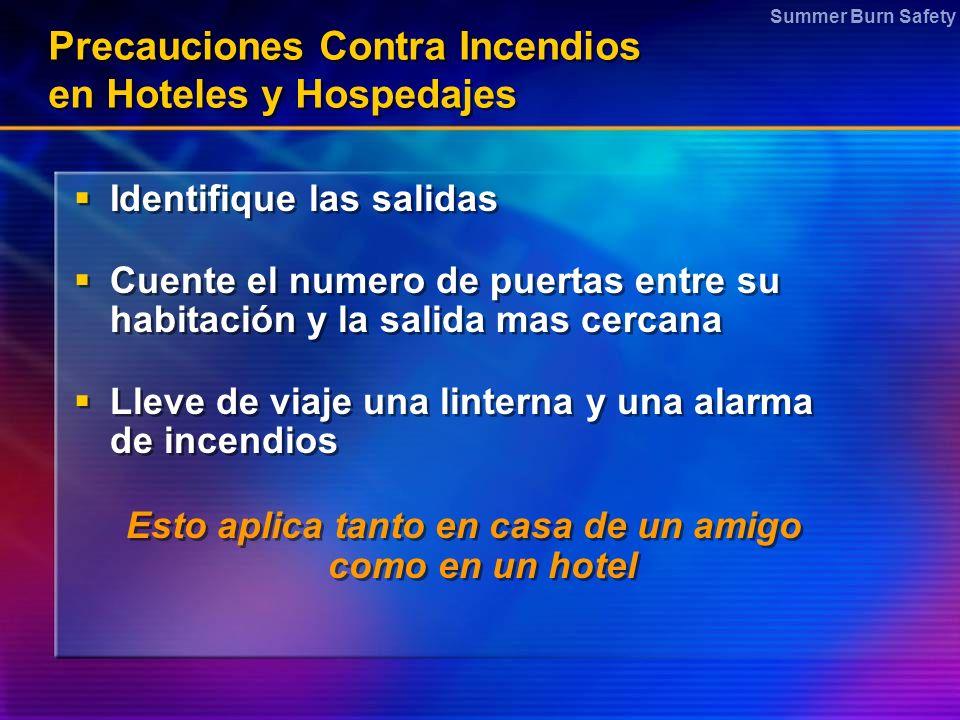 Precauciones Contra Incendios en Hoteles y Hospedajes