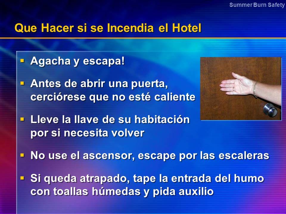 Que Hacer si se Incendia el Hotel