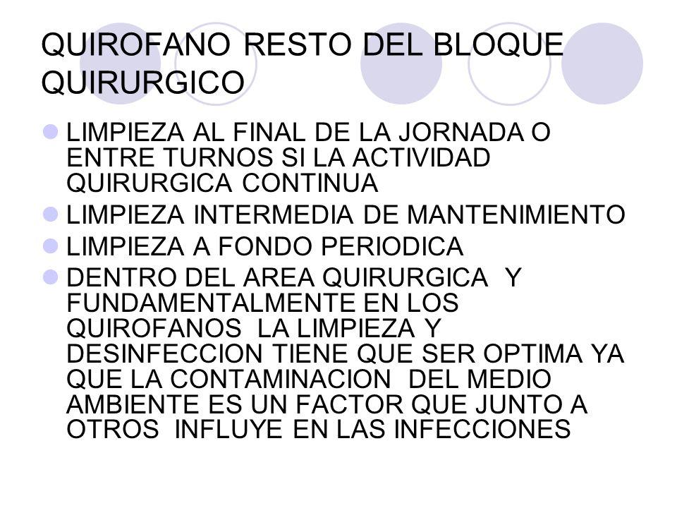 QUIROFANO RESTO DEL BLOQUE QUIRURGICO