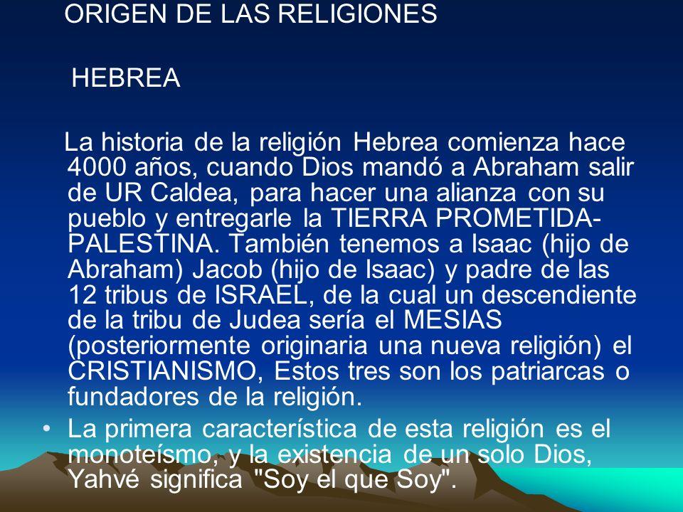 ORIGEN DE LAS RELIGIONES