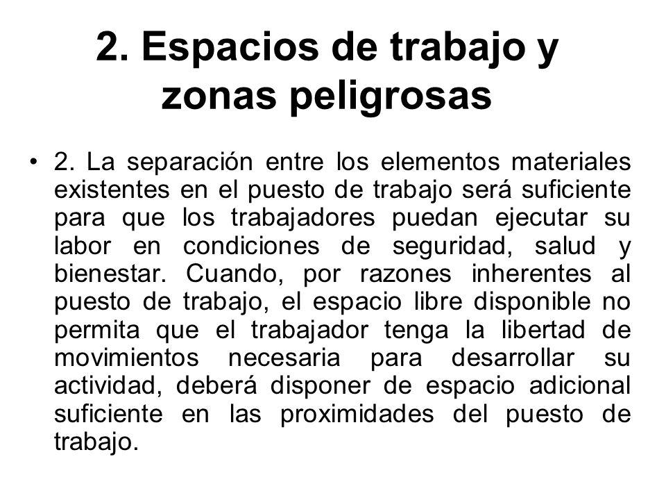 2. Espacios de trabajo y zonas peligrosas