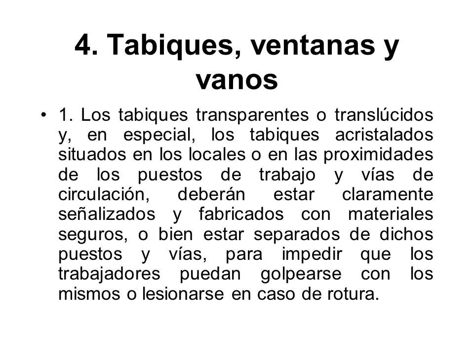 4. Tabiques, ventanas y vanos