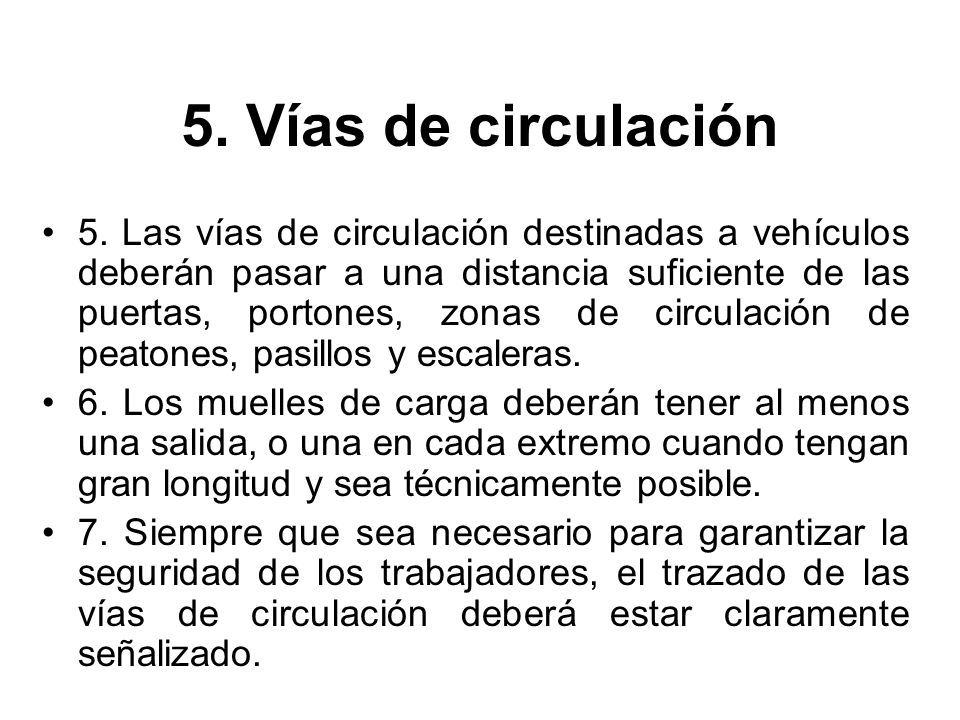 5. Vías de circulación