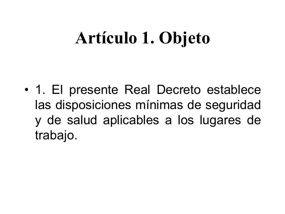 Artículo 1. Objeto 1.