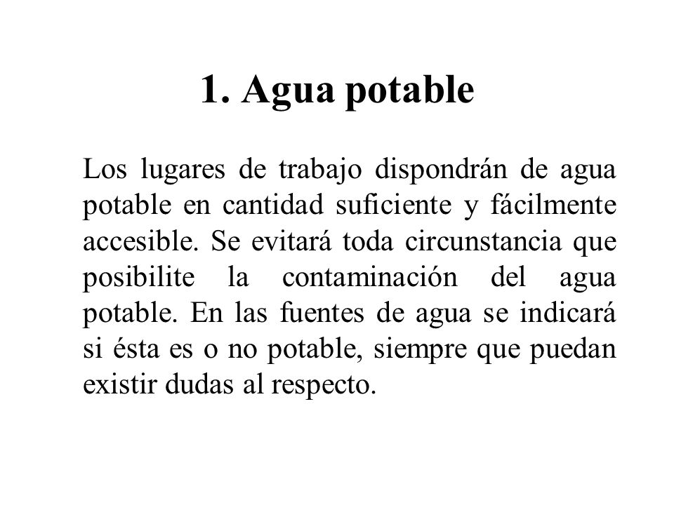1. Agua potable